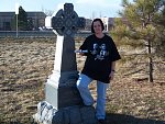 Paige at local Weslyan cemetery
